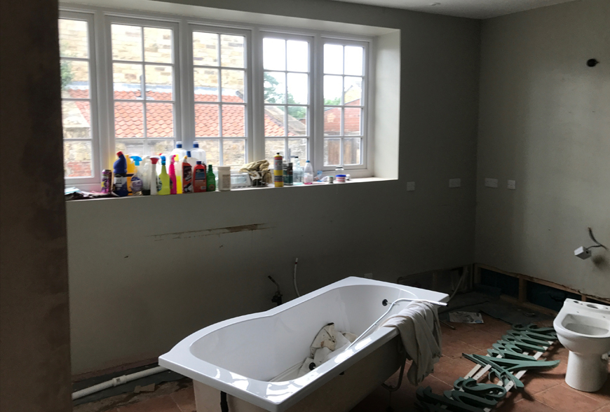 Bathroom refurbishment Farrier Cayton Rachel McLane Ltd
