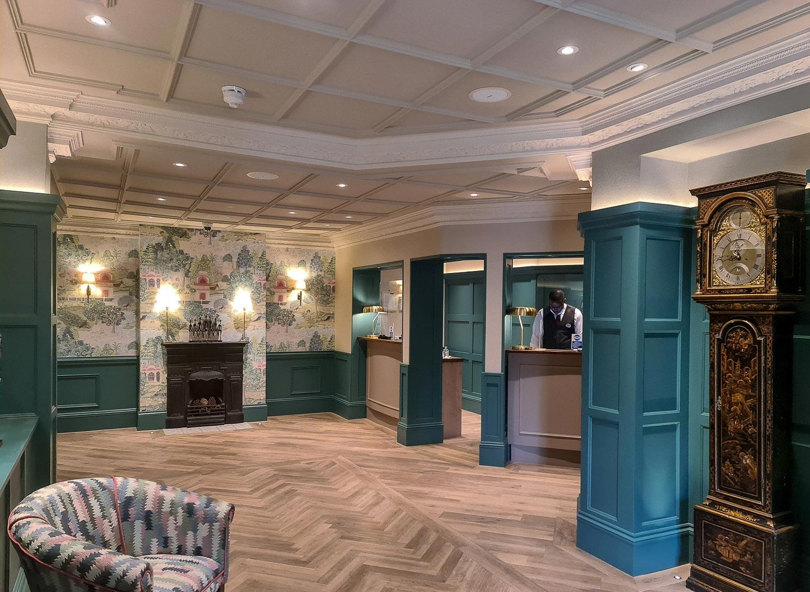 Down Hall Reception Refurbishment by Rachel McLane Ltd